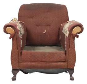 Furniture Medic of Kelowna Upholstery and Leather Furniture Repairs and Restoration Before